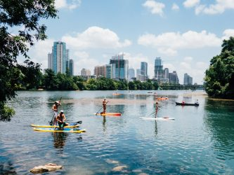 Try paddle boarding to avoid feeling miserable about your divorce.