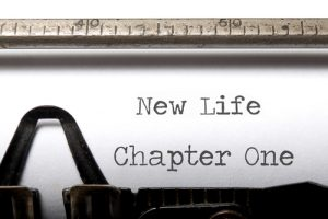 New Life Chapter One typewriter reflects how to move on after a breakup.