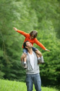 The best parenting advice I got was let them ride on their dad's shoulders like the boy in this picture.