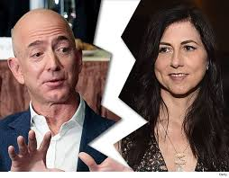 Jeff Bezos celebrity divorce separates he and his wife.